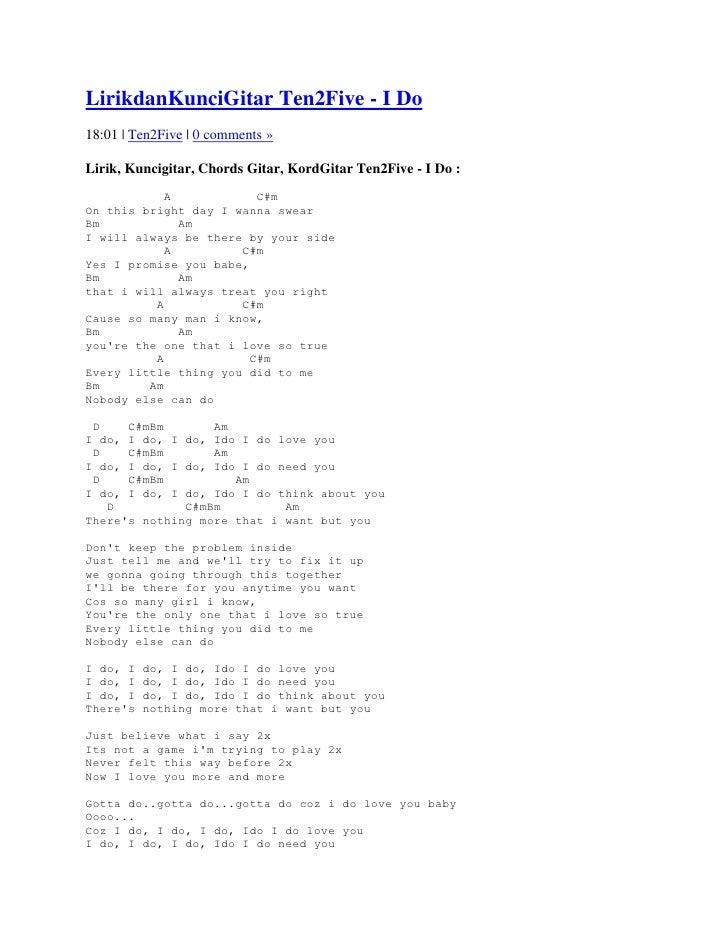 Lirik lagu so tell me that you love me too