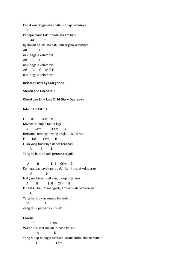 Chord Lagu Aku Takut Info Dan Tips