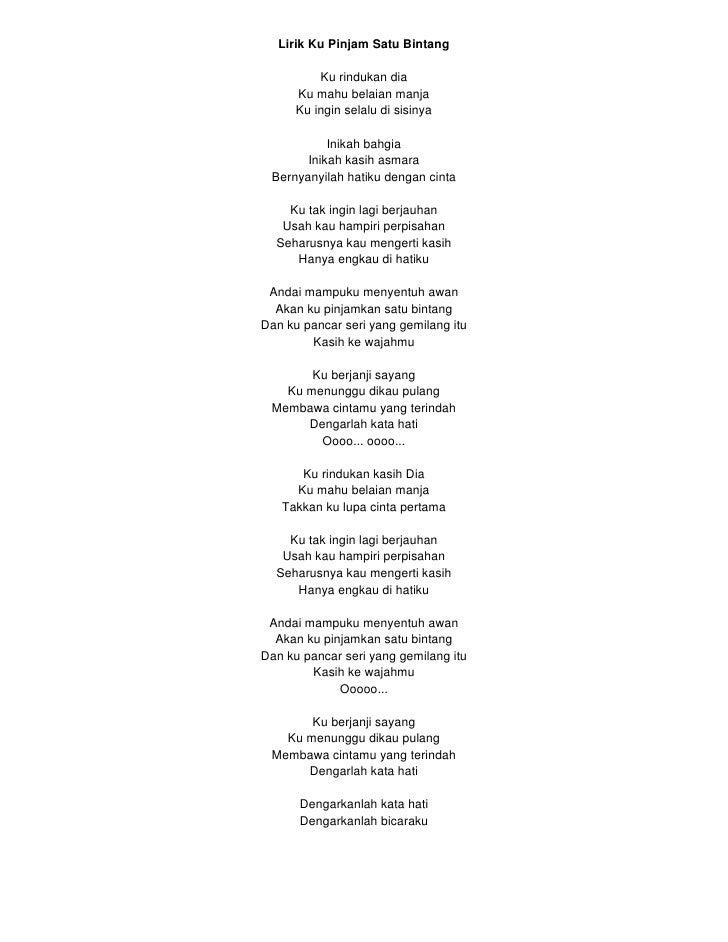 Lirik Lagu Sayang