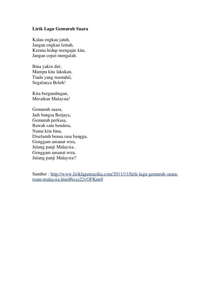 Lirik lagu gemuruh suara