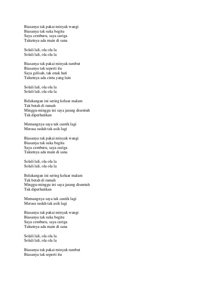 Lirik Lagu Info Dan Tips