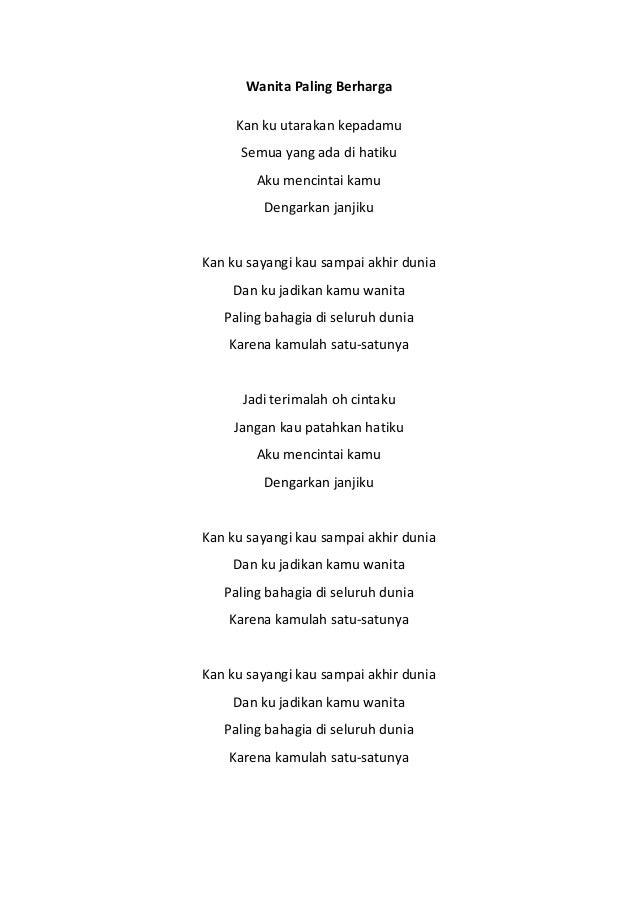 Kunci Lirik Lagu Indonesia Terbaru