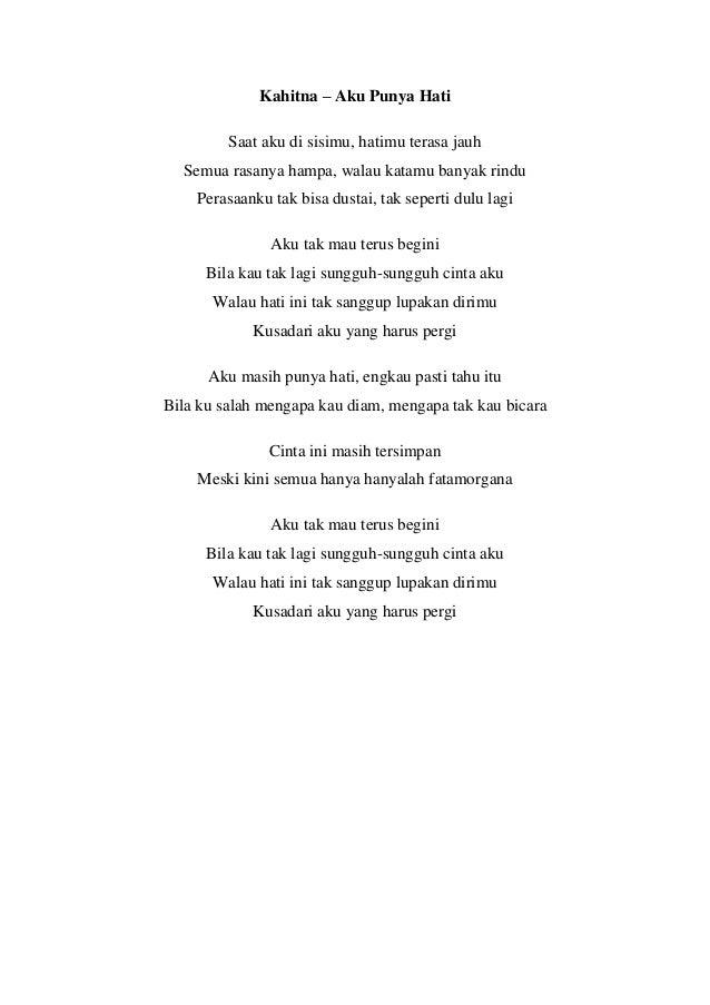Lirik Lagu Terbaru Indonesia 2016