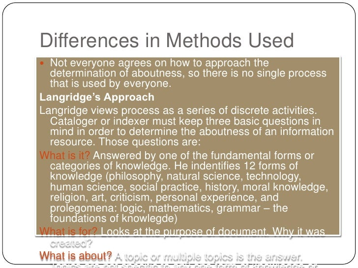 an analysis of differences in methods used by science and religion The guides to anthropological theories and approaches  the development of the comparative method as used in cross-cultural analysis was a  religion , social.