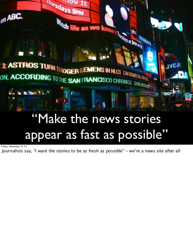 What Your CDN Won't Tell You: Optimizing a News Website for Speed and… slideshare - 웹