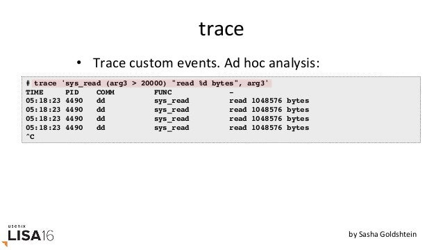 argdist # argdist -H 'p::tcp_cleanup_rbuf(struct sock *sk, int copied):int:copied' [15:34:45] copied : count distribution...