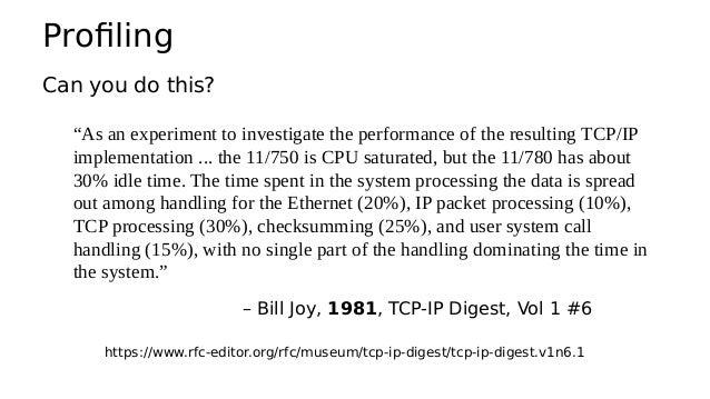 perf: CPU profiling • Sampling full stack traces at 99 Hertz, for 30 secs: # perf record -F 99 -ag -- sleep 30 [ perf reco...