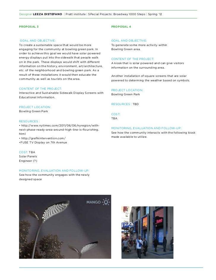 Designer Leeza DiStefano   Pratt institute   SPecial Projects: Broadway 1000 Steps   Spring '12Proposal 3                 ...