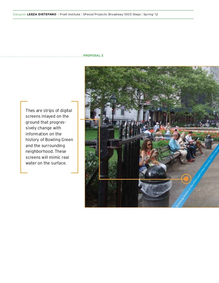 Designer Leeza DiStefano   Pratt institute   SPecial Projects: Broadway 1000 Steps   Spring '12                           ...