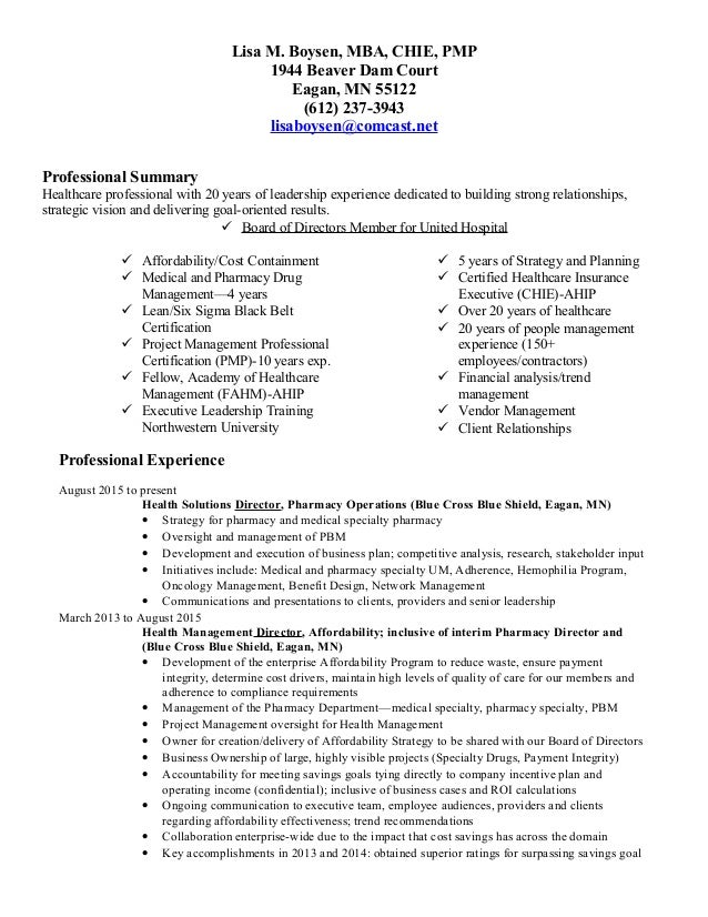 Lisa Boysen Resume