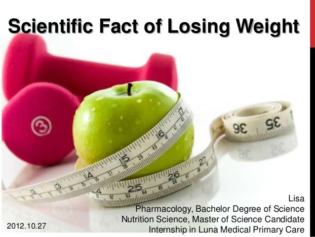 Scientific Fact of Losing Weight                                                        Lisa                Pharmacology, ...