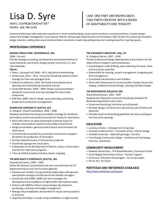 Resume Merchandiser Resume Samples Visual Merchandiser Resume Brefash  Merchandiser Resume