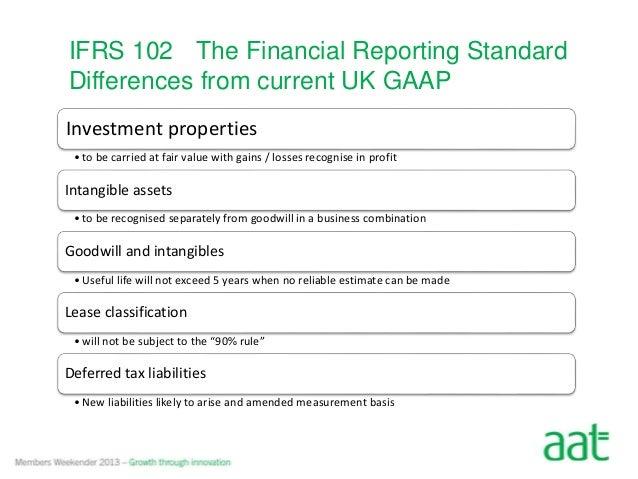 Cash Flow Forecast Uk Gaap: IFRS VS GAAP,Chart