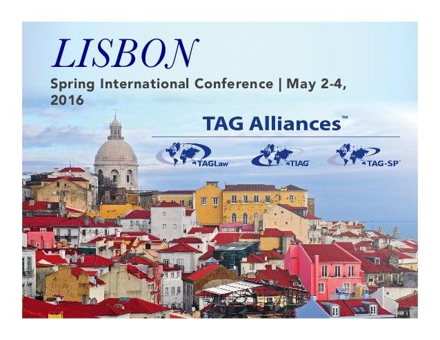 Spring International Conference | May 2-4, 2016  LISBON