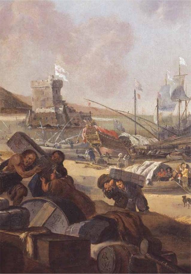 39 Plage de l'aventure, détail d'un tableau de Weenix représentant la tour de Belém et le mouillage du Restelo, coll. priv...