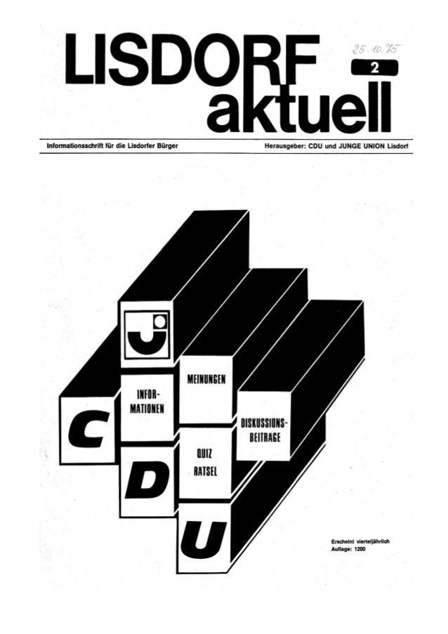 Lisdorf aktuell nr. 2   herbst 1975 (25.10.1975)