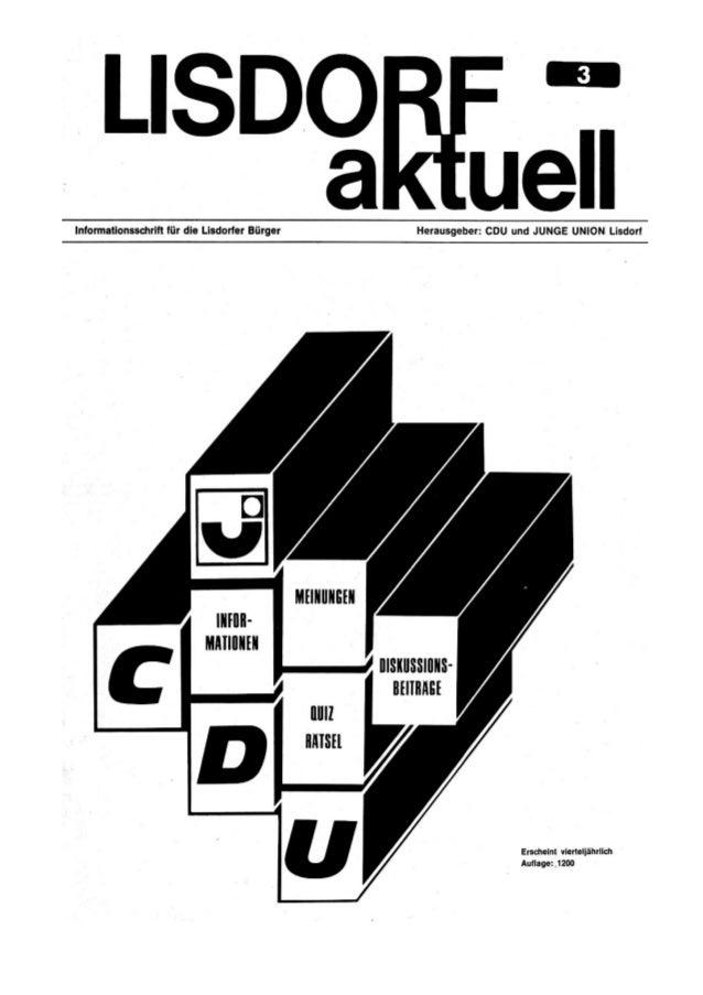 Lisdorf aktuell nr. 3   weihnachten 1975