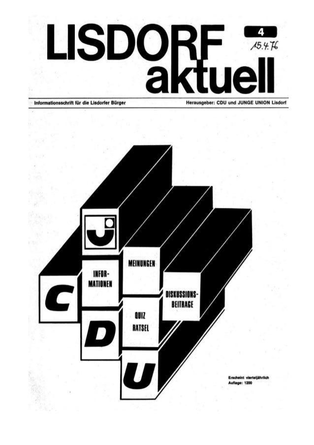 Lisdorf aktuell nr. 4   ostern 1976