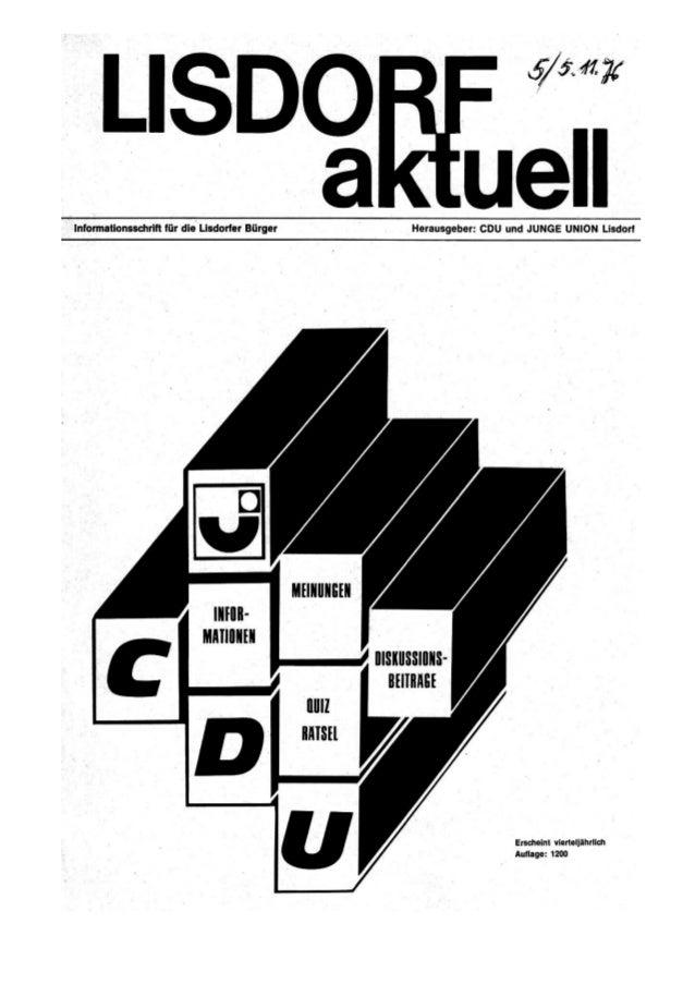 Lisdorf aktuell nr. 5   herbst 1976