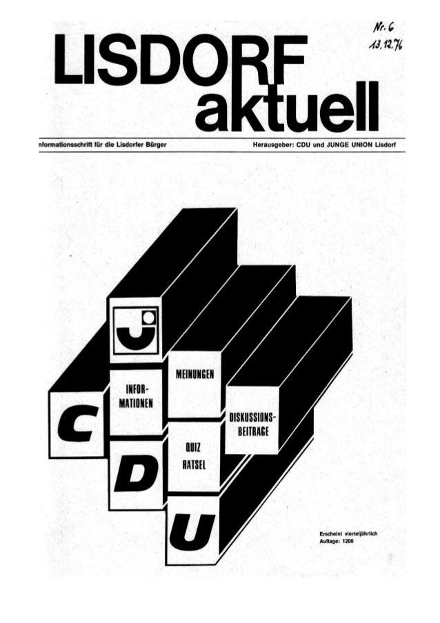 Lisdorf aktuell nr. 6   weihnachten 1976