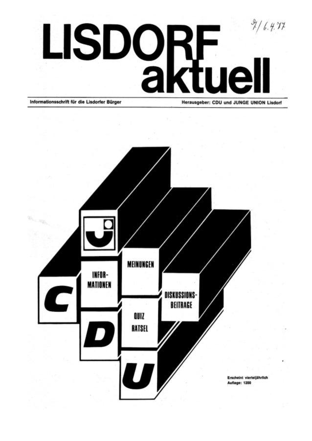 Lisdorf aktuell nr. 7   ostern 1977