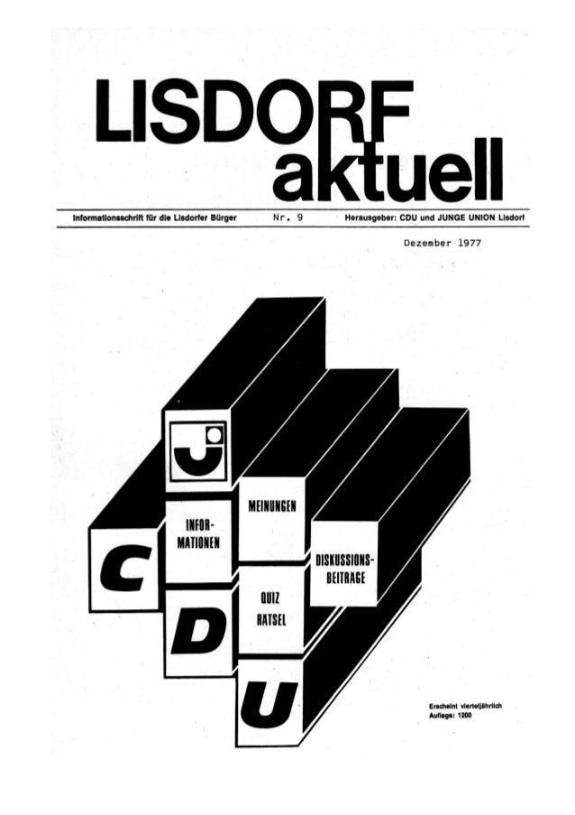 Lisdorf aktuell nr. 9   weihnachten 1977