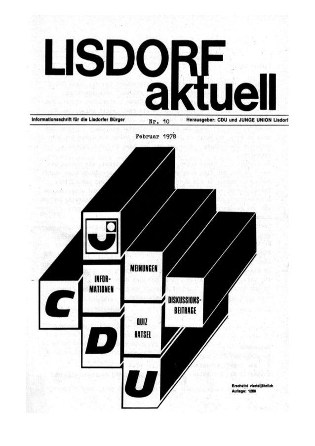 Lisdorf aktuell nr. 10   ostern 1978