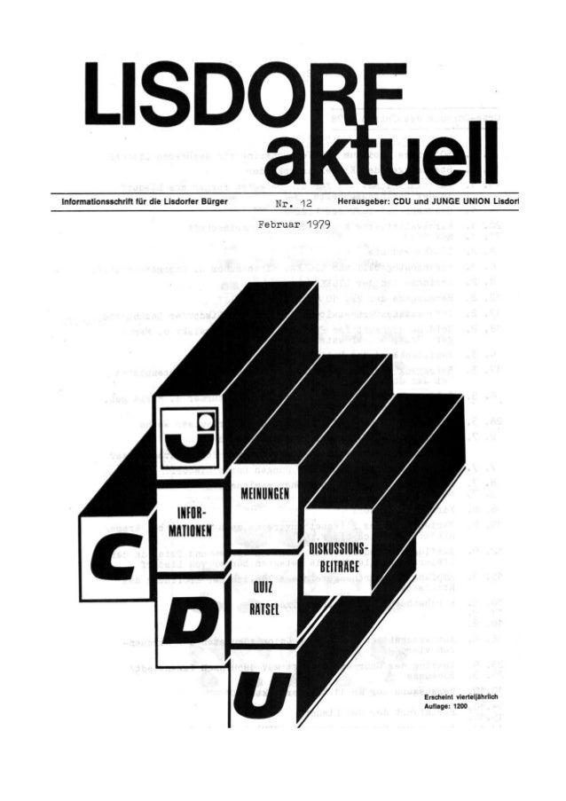 Lisdorf aktuell nr. 12 Frühjahr 1979