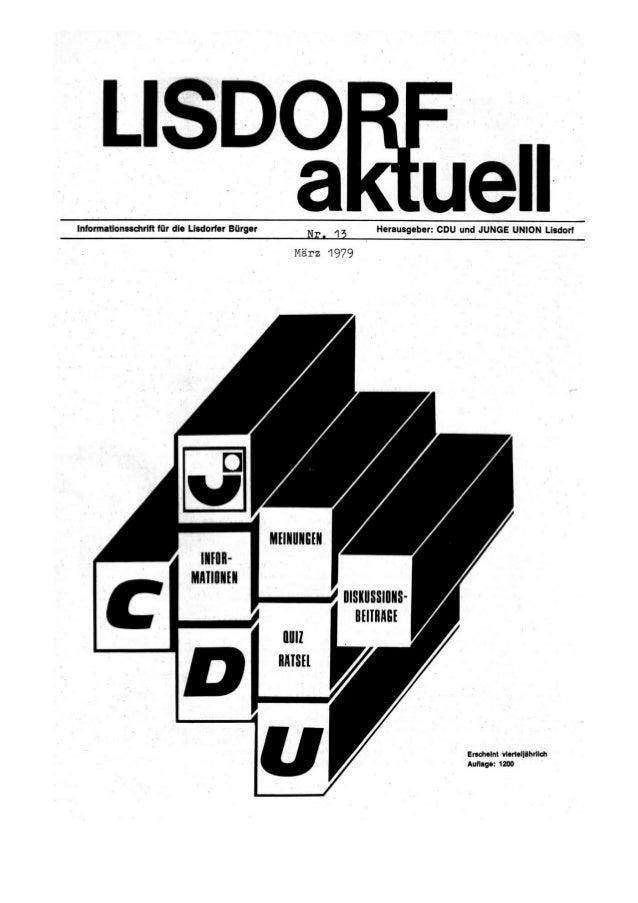 Lisdorf aktuell  nr. 13 1979