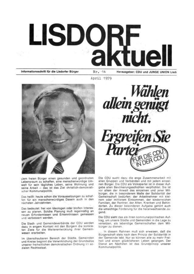 Lisdorf aktuell nr. 14   ostern 1979