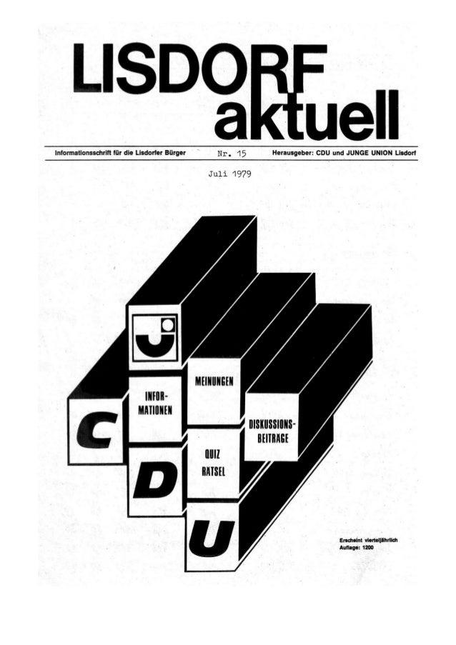 Lisdorf aktuell nr. 15   sommer 1979
