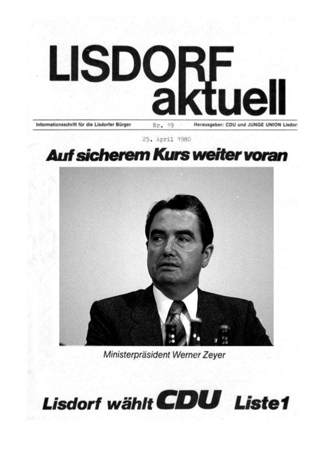 Lisdorf aktuell nr. 19   ostern 1980