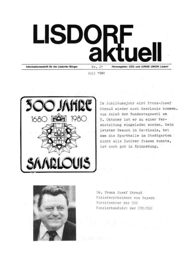Lisdorf aktuell nr. 21    sommer 1980 ( ii )