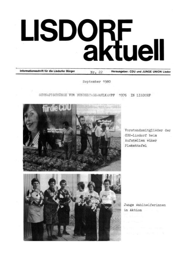 Lisdorf aktuell nr. 22   herbst 1980