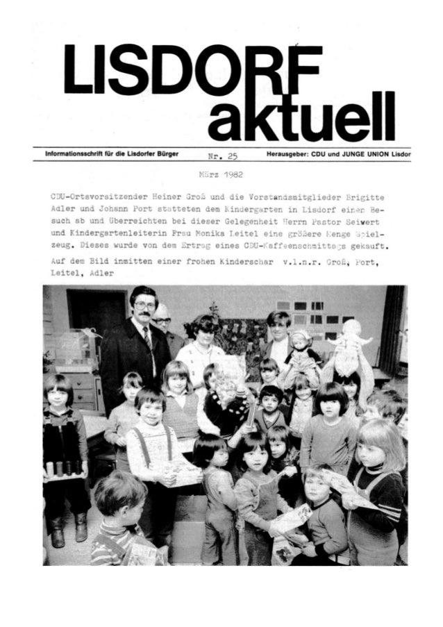 Lisdorf aktuell nr. 25   ostern 1982