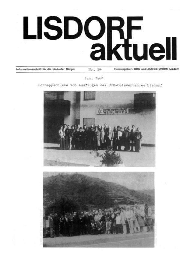 Lisdorf aktuell nr. 24   sommer 1981