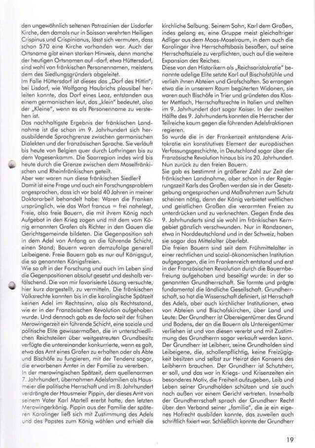"""G lohrhundert und der 3Ojöhrige Krieg im 17. Johr"""" hundert. ln der Korolingerzeit und ouch seit dem12. Johrhundert wurden ..."""