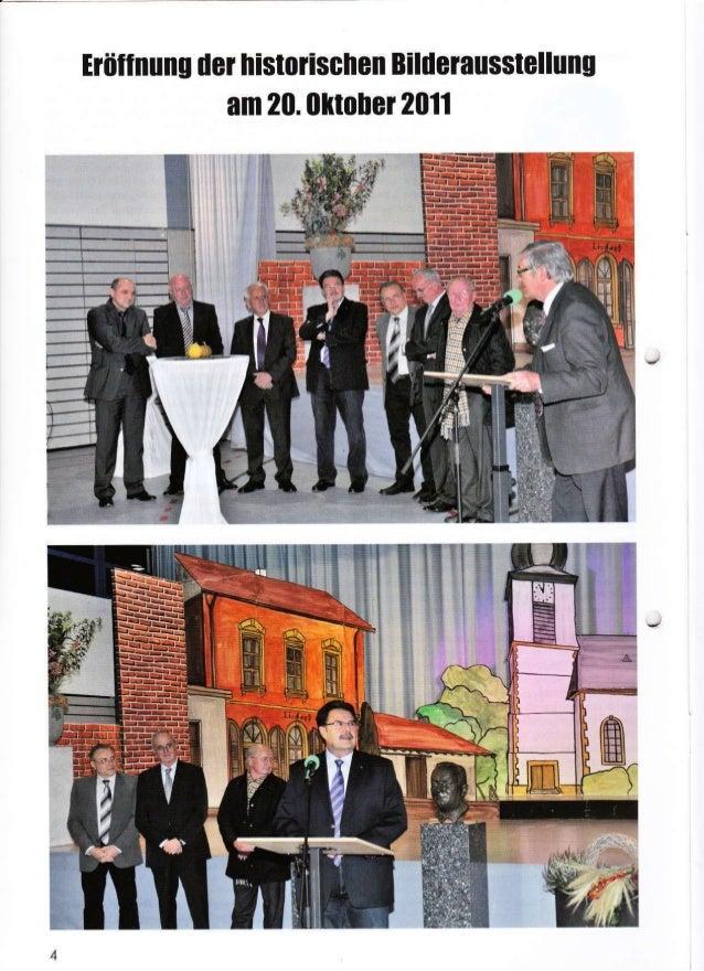"""Iräflnung der histotischen Bilderausstellung am 20.olrrober 2011 il:at *. !.Y,,-+""""i'j j fr rm """"'-X .,jx"""