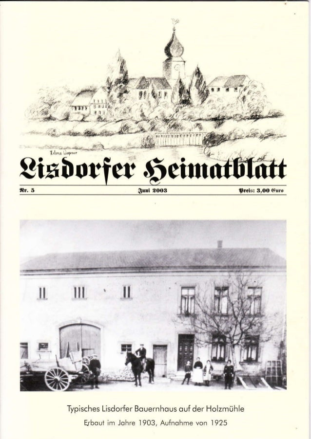 8ixIor,lr. Süül 2OOB Sr.t5: 3,OO 6rü10 il ilt ll Typisches Lisdorfer Bouernhqus ouf der Holzmühle Erboui im lohre 1903, Au...