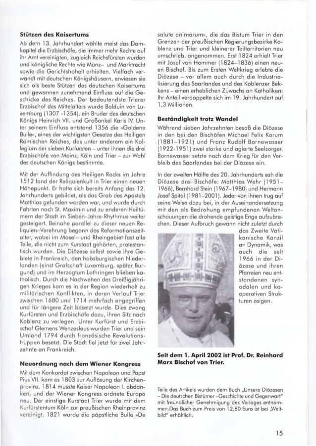 slülzen des Koiserlums Ab dem 13. Johrhundert wähite meist dos Dom- kopitel die Erzbischöfe, die immer mehr Rechte ouf ihr...