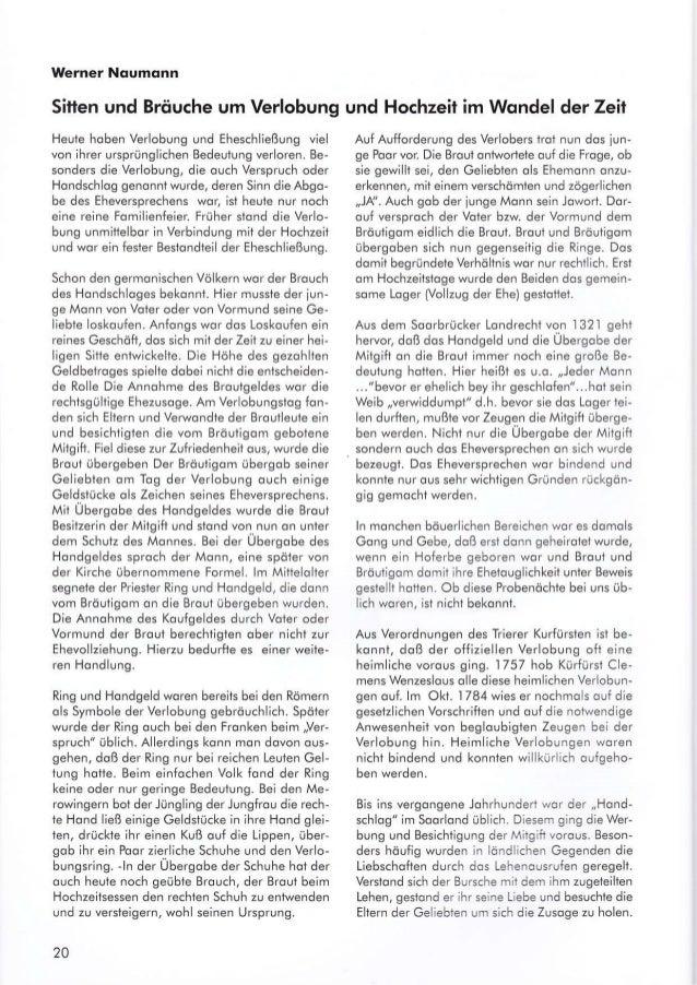 Werner Noumonn Sitten und Bröuche um Verlobung Heule hoben Verlobung und Eheschließung viel von ihrer ursprünglichen Bedeu...