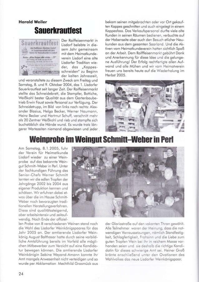 Hqrqld Weiler Der Roiffeisenmorkt in Lisdorf belebte in die- sem Johr gemeinsom mit dem Heimotkunde- verein Lisdorf eine o...