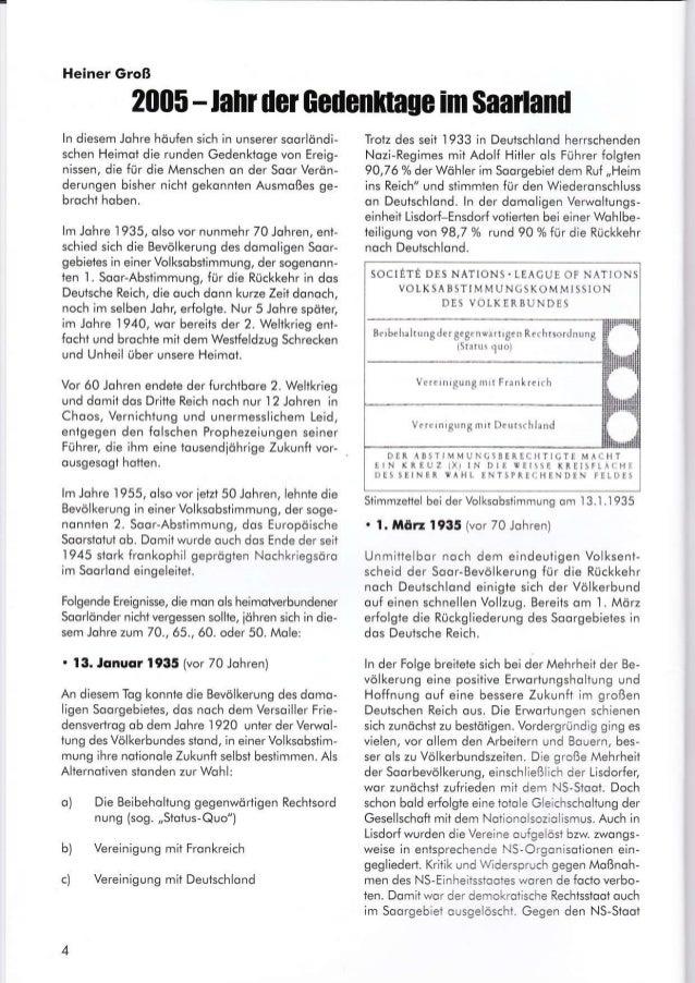 2005-lail derGedenfitage im $aailand ln diesem Johre höufen sich in unserer soorlöndi- schen Heimot die runden Gedenkioge ...