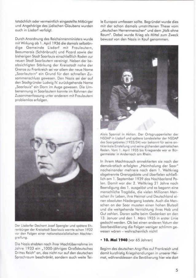 tolsöchlich oder vermeintlich eingeslellle M;tbürger und Angehörige des iüdischen Gloubens wurden ouch in Lisdod verfolgt....