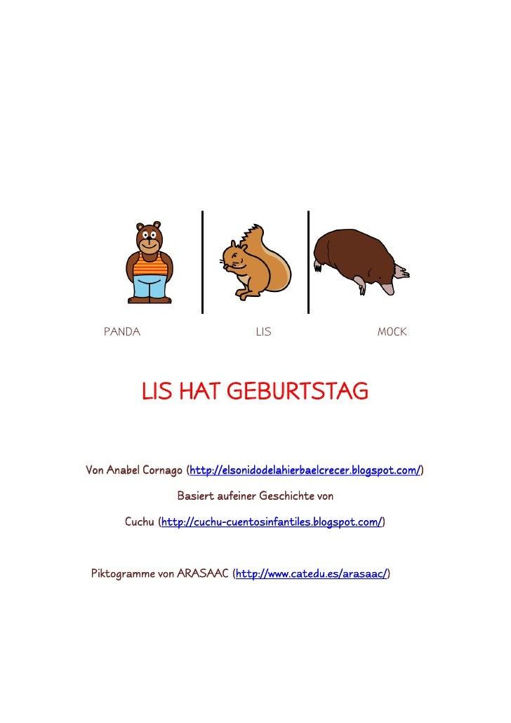 PANDA                          LIS                     MOCK                LIS HAT GEBURTSTAG   Von Anabel Cornago (http:/...