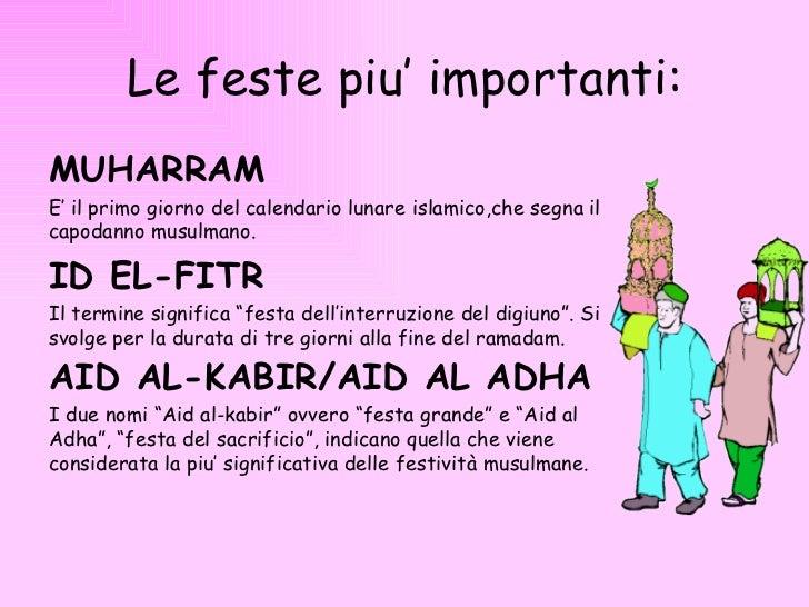 Calendario Islamico E Feste Islamiche.Conosciamo L Islamismo