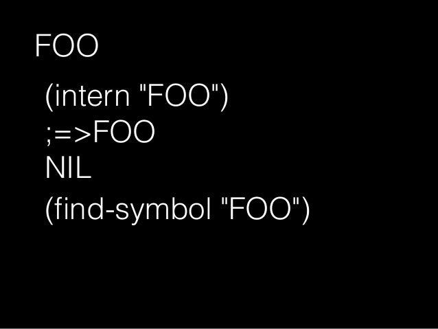 "(find-symbol ""car"" 'cl) ;=>NIL; NIL 大文字小文字を区別"
