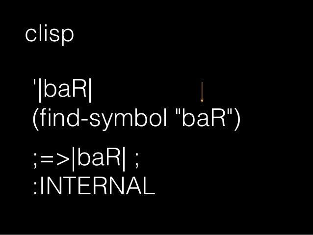 "(symbol-name ' baR ) ;=>""baR"""