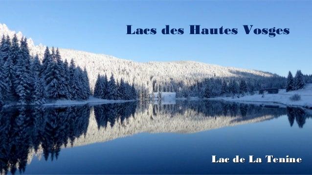 Lacs des Hautes Vosges Lac de La TenineLac de La Tenine