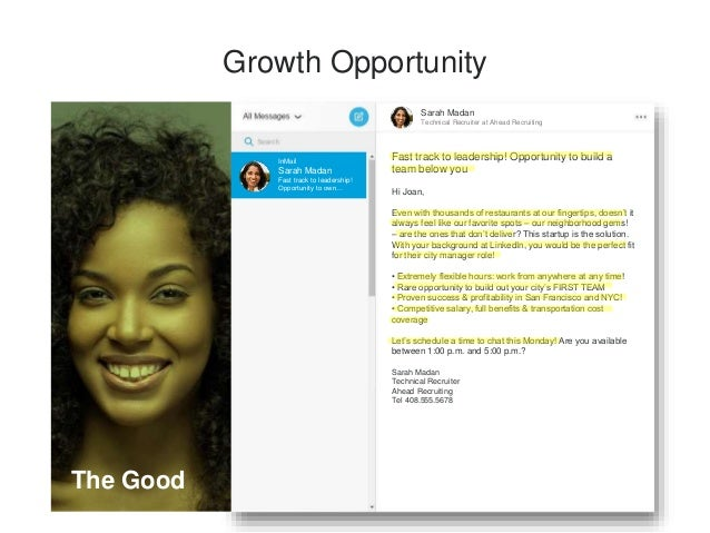 C-level Opportunity Leslie Lever Technical Recruiter at Staffing Partners InMail Leslie Lever COO Opportunity COO Opportun...